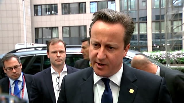David Cameron interview BRUSSELS Belgium EXT David Cameron MP interview SOT Well there are times when it's very important that you stick to your...