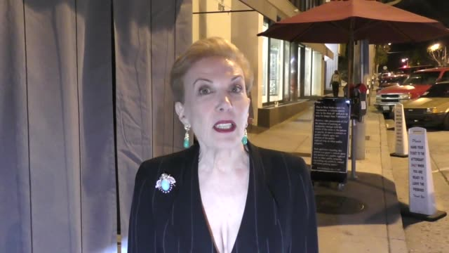 INTERVIEW Jeanne Phillips talks exploitation outside Craigs in West Hollywood in Celebrity Sightings in Los Angeles