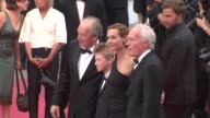 JeanPierre Dardenne Cecile de France Thomas Doret Luc Dardenne at the Closing Gala Awards Red Carpet 64th Cannes Film Festival at Cannes