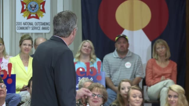 Jeb Bush held a town hall at a Veteran of Foreign Wars post in suburban Denver