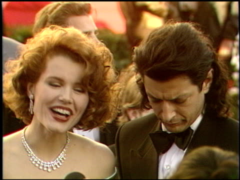 Jeff Goldblum at the 1989 Academy Awards at the Shrine Auditorium in Los Angeles California on March 29 1989
