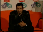 Jeff Goldblum at the 1997 Nickelodeon Kids' Choice Awards press room at Grand Olympic Auditorium in Los Angeles California on April 19 1997