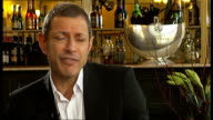 London INT Jeff Goldblum interview SOT Am enjoying myself and have never been on stage in London The Old Vic fills you with romance and delight It's...