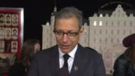 INTERVIEW Jeff Goldblum talks about how Wes Anderson treats each day of shooting as an art project at 'The Grand Budapest Hotel' New York Premiere...