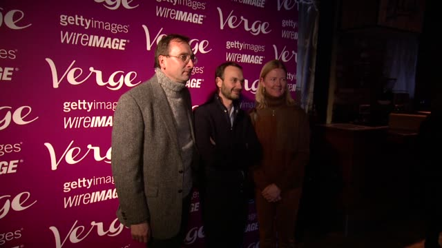 Jeff Vespa and guests at Verge Sundance Party 2014 Park City at Village At The Lift on in Park City Utah