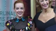 BROLL Jena Malone Janet McTeer Mitchell Lichtenstein at 'Angelica' Red Carpet 65th Berlin Film Festival at Zoo Palast on February 07 2015 in Berlin...