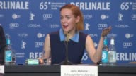 INTERVIEW Jena Malone on depression and hysteria the science behind it at 'Angelica' Press Conference 65th Berlin Film Festival at Grand Hyatt Hotel...