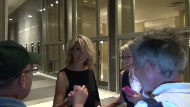 Jenna Elfman with fans at the Dorothy Chandler Pavilion Jenna Elfman with fans at the Dorothy Chandler on July 27 2013 in Los Angeles California