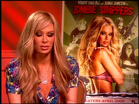 Jenna Jameson on her character in the film at the 'Zombie Strippers' Press Junket at NULL in Los Angeles California on April 4 2008