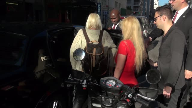 Jenna Jameson outside the 'Good Day New York' studio