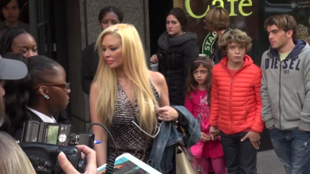 Jenna Jameson with fans outside Barnes Noble at Celebrity Sightings in New York in New York NY on