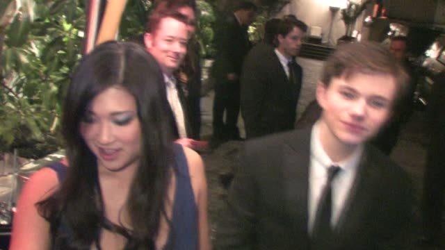 Jenna Ushkowitz and Chris Colfer at Chateau Marmont at the Celebrity Sightings in Los Angeles at Los Angeles CA