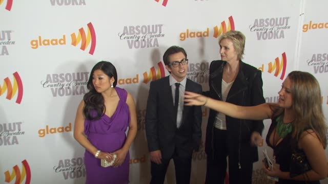 Jenna Ushkowitz Kevin McHale Jane Lynch at the 2010 Glaad Media Awards at Century City CA