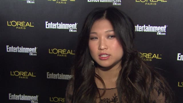 Jenna Ushkowitz on what brings her our tonight how it feels to have Glee recieve for both SAG Grammy nominations who she looks forward to mingling...