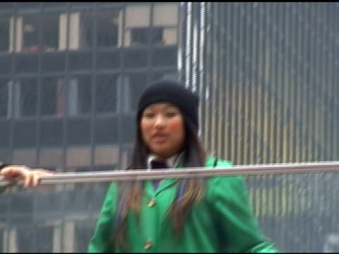 Jenna Ushkowitz shoots a scene from the season finale of 'Glee' in Times Square in New York 04/25/11