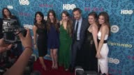 Jenni Konner Zosia Mamet Jemima Kirke Judd Apatow producer Lena Dunham and Allison Williams at New York Premiere of HBO's 'Girls' at School of Visual...