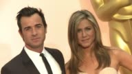 Jennifer Aniston and Justin Theroux at 87th Annual Academy Awards Arrivals at Dolby Theatre on February 22 2015 in Hollywood California