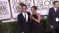 Jennifer Aniston and Justin Theroux at the 72nd Annual Golden Globe Awards Arrivals at The Beverly Hilton Hotel on January 11 2015 in Beverly Hills...