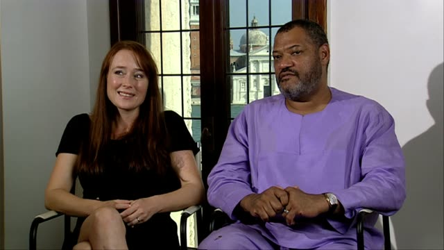 Jennifer Ehle and Laurence Fishburne on the essence of the film at the Contagion Interviews Venice Film Festival 2011 at Venice