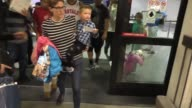 Jennifer Garner with children unhappy with paparazzi while arriving at LAX Airport in Los Angeles in Celebrity Sightings in Los Angeles