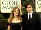 Jennifer Jason Leigh and Noah Baumbach at the 2006 Golden Globe Awards Arrivals at the Beverly Hilton in Beverly Hills California on January 16 2006