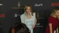 Jennifer Jason Leigh at Tiny Prints Gratitude Lounge Arrivals At The Weinstein Company Netflix 2016 Golden Globes After Party at Robinsons May Lot on...
