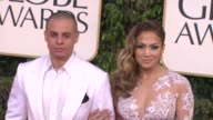 Jennifer Lopez and Casper Smart at the 70th Annual Golden Globe Awards Arrivals in Beverly Hills CA on 1/13/13