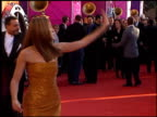 Jennifer Lopez at the 1999 Grammy Awards at the Shrine Auditorium in Los Angeles California on February 24 1999