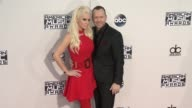 Jenny McCarthy Donnie Wahlberg at 2015 American Music Awards Arrivals in Los Angeles CA