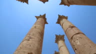 Jerash (Gerasa), Roman columns in the temple of Artemis