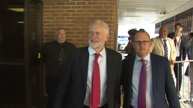 Jeremy Corbyn arriving at the TUC Congress 2017 in Brighton