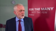 Jeremy Corbyn condemning the violence in Venezuela and saying it 'will not solve the issues'