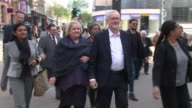 Jeremy Corbyn greeting Labour supporters in Croydon