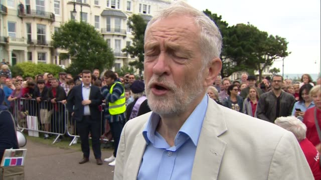 West Sussex Hastings and Rye EXT Jeremy Corbyn MP interview SOT re Grenfell and Kensington and Chelsea Council election Brexit Corbyn meeting...