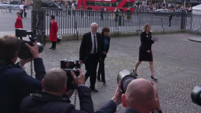 4K Jeremy Corbyn Laura Alvarez at Battle of the Somme Centenary Westminster Abbey Service on June 30 2016 in London England