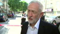Jeremy Corbyn praising the community response and confirming he has been in touch with Downing Street and Sadiq Khan after the Finsbury Park attack