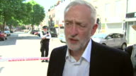 Jeremy Corbyn saying he is treating the Finsbury Park attack as seriously as any other terror attack