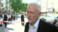 Jeremy Corbyn saying 'it's not up to me what the Prime Minister does' but that he is at the scene of the Finsbury Park mosque attack because he is...