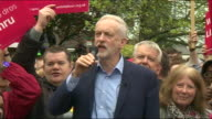Jeremy Corbyn saying Labour are commited to maintaining the 'Triplelock' pension
