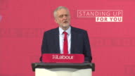Jeremy Corbyn saying 'our message is one of inclusion and social justice and we're going to get that message out across the whole country'