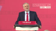 Jeremy Corbyn saying the Labour Party represents 'working people' saying it is 'the establishment versus the people and it's our duty to make sure...