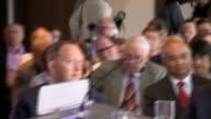 Jeremy Corbyn speech on antiSemitism report CUTAWAYS Shami Chakrabarti speaking at podium SOT