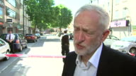 Jeremy Corbyn talking about previous threats and attacks on Finsbury Park mosque and that an attack on a religious building 'is an attack on all of...