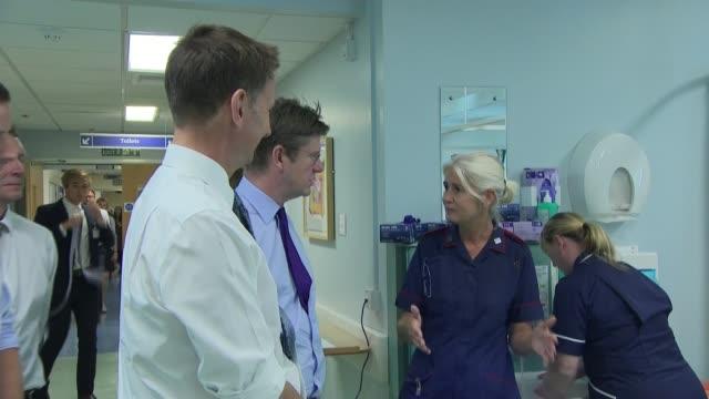 Jeremy Hunt and Greg Clark visit hospital / interviews ENGLAND Birmingham Institute of Translational Medicine INT Jeremy Hunt MP and Greg Clark MP...
