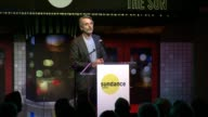 SPEECH Jeremy Irons talks about Glenn Close before presenting her with Sundance Institute Vanguard Leadership Award at Sundance Institute New York...