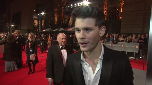 Jeremy Irvine on the BAFTAs on fame on being lucky at The Royal Opera House on February 12 2012 in London England