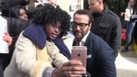 Jeremy Piven at AOL signs for fans and poses for photos in New York City in Celebrity Sightings in New York