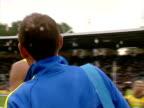 Jeremy Wariner after winning the men's 400m final at the Aviva London Grand Prix