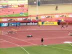 Jeremy Wariner competes in the men's 400m final at the Aviva London Grand Prix