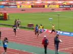 Jeremy Wariner wins the men's 400m final at the Aviva London Grand Prix